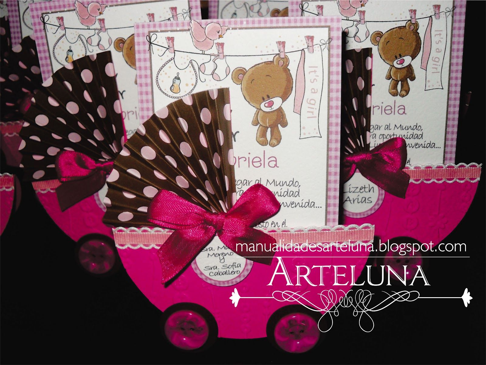 Arte luna tarjetas baby shower ni a ecro diy pinterest - Ideas para baby shower nina ...