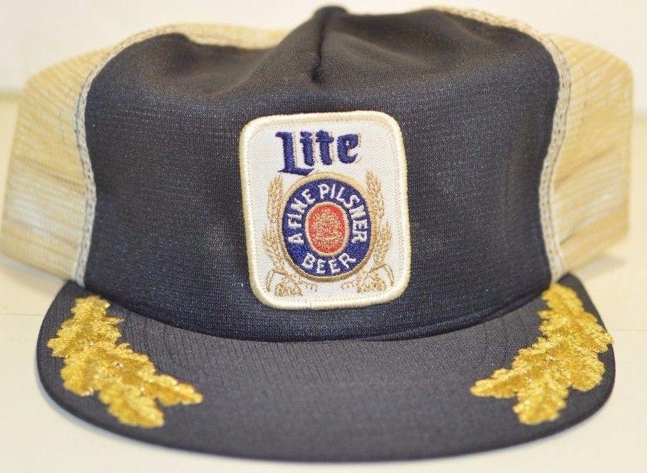 9d8f3ca15 Miller Lite Beer Brewing Co. A Fine Pilsner Breweriana Snapback Gold ...