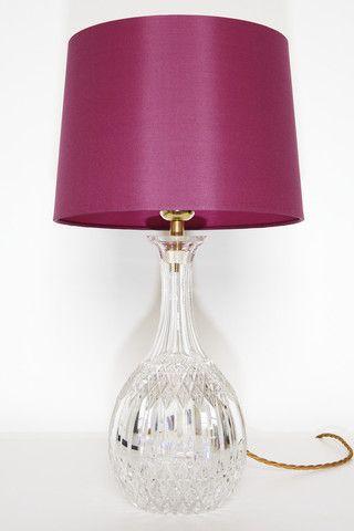 Crystal lamp with fuschia silk shade raspberry beret pinterest crystal lamp with fuschia silk shade aloadofball Images