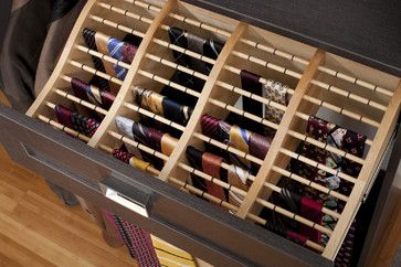 The Closet Works, Inc. Contemporary Closet   Rod Storage For Ties Or Scarves