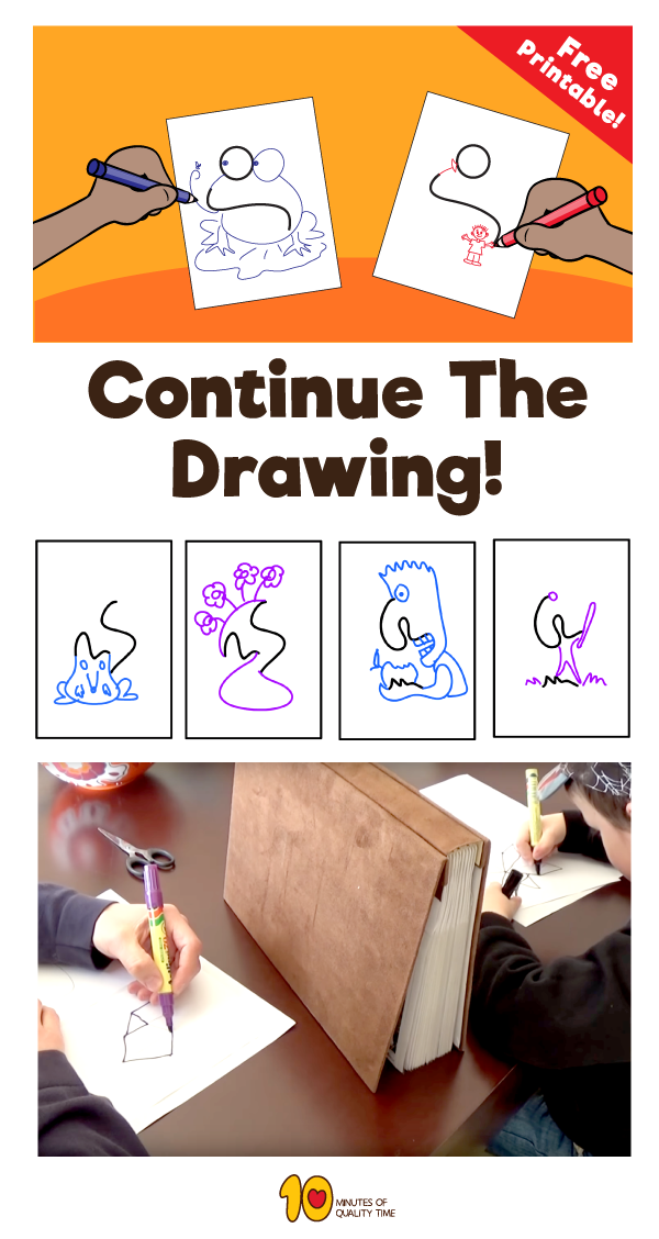 Continue The Drawing Simple And Fun Activities For Kids Crafts