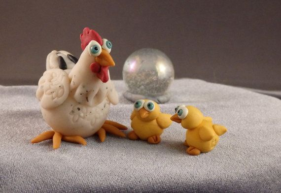 MarbleMini Mother's Day Chicken WIth Chicks by HMCCreationsPLSE