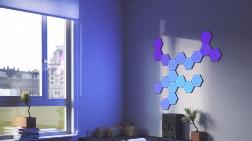 Nanoleaf S New Hexagon Light Panels Let You Come Up With Crazier Designs Nanoleaf Was The Originator Of Smart Li Light Panels Hexagon Design Nanoleaf Designs