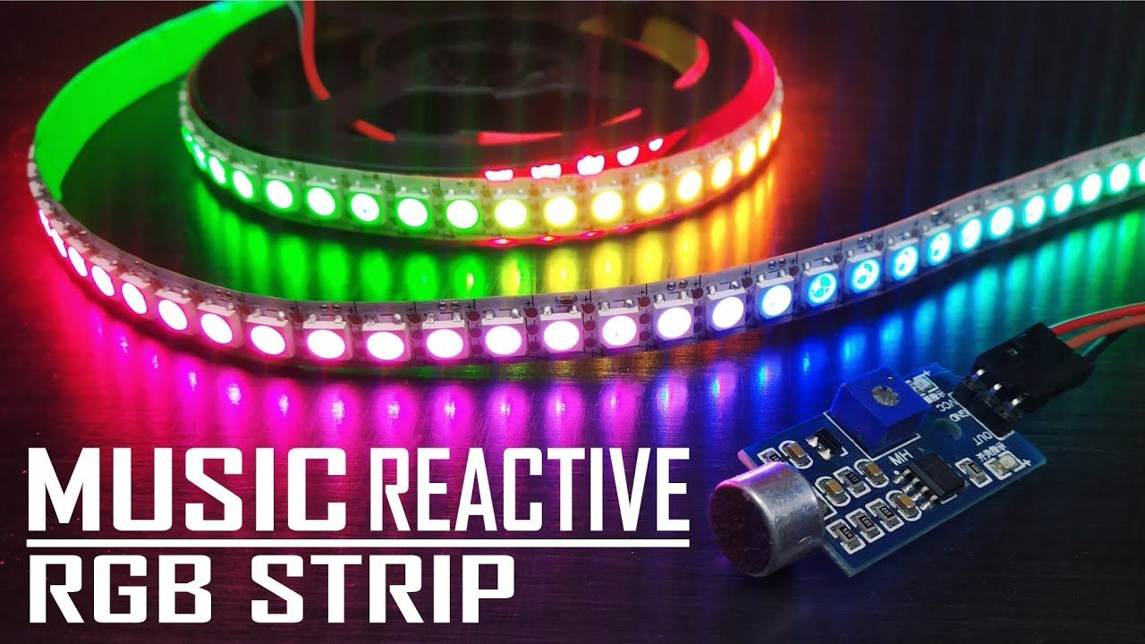 How To Make Diy Music Reactive Rgb Led Strip Ws2812b Youtube In 2020 Arduino Led Arduino Projects Diy Led Projects