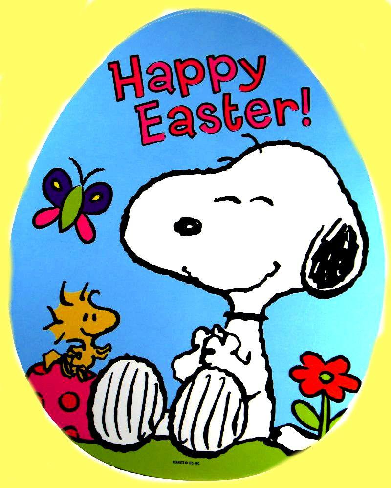 Happy Easter Frohe Ostern Snoppy Snoopy Und Woodstock