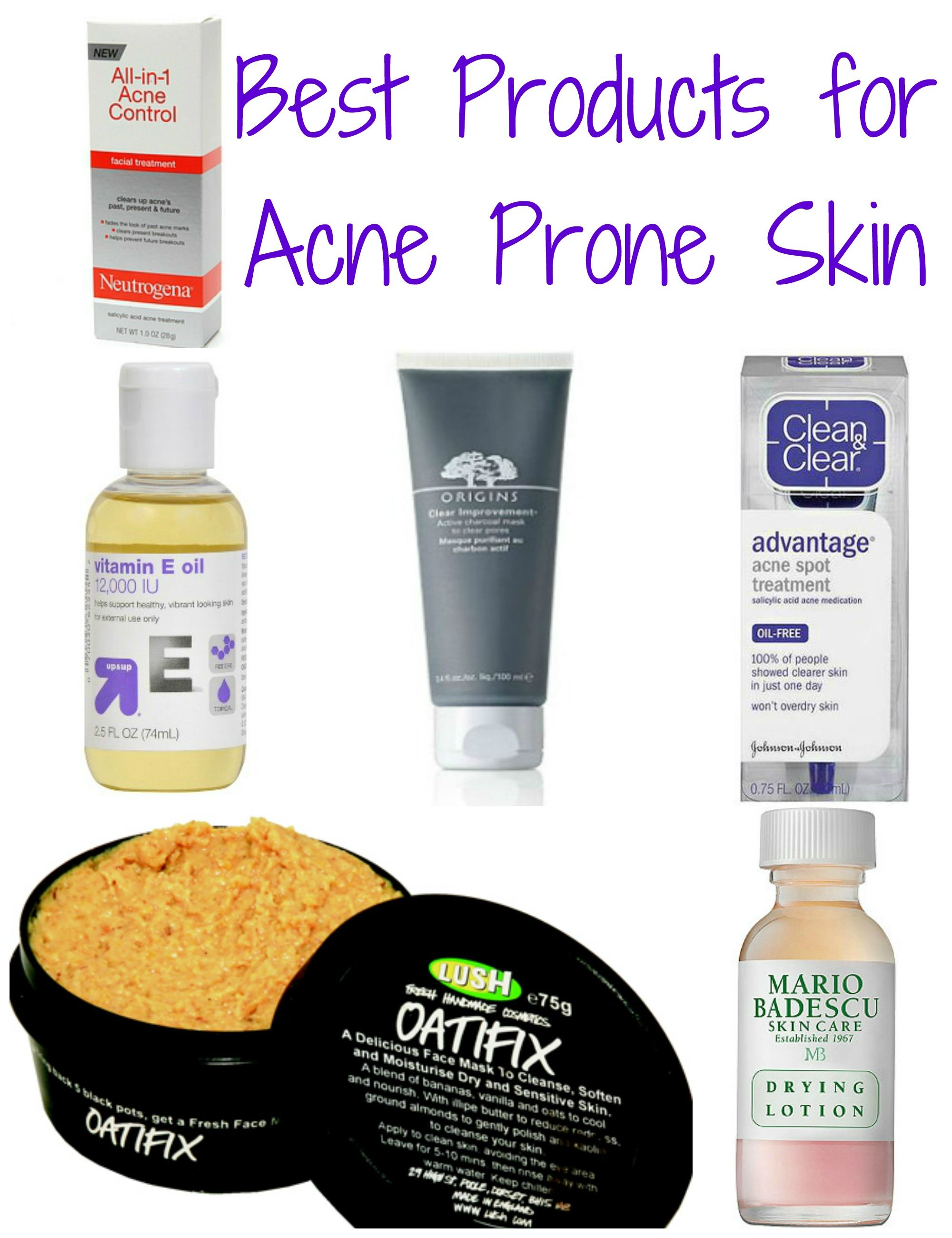 Best Products for Acne Prone Skin Best acne products