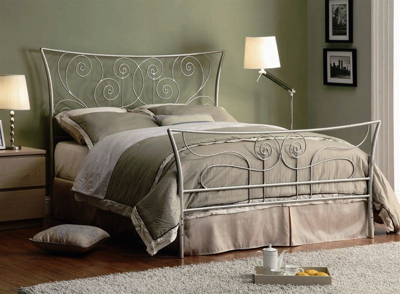Best Metal Bed Frame Queen Sc300252 Tyrus Silver Iron 400 x 300