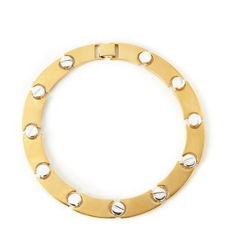 bold and beautiful - Erwin Pearl Screw necklace in gold and silver