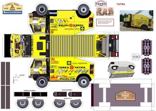 free download paper model trucks maquette dakar maquettes d couper et coller dioramas. Black Bedroom Furniture Sets. Home Design Ideas