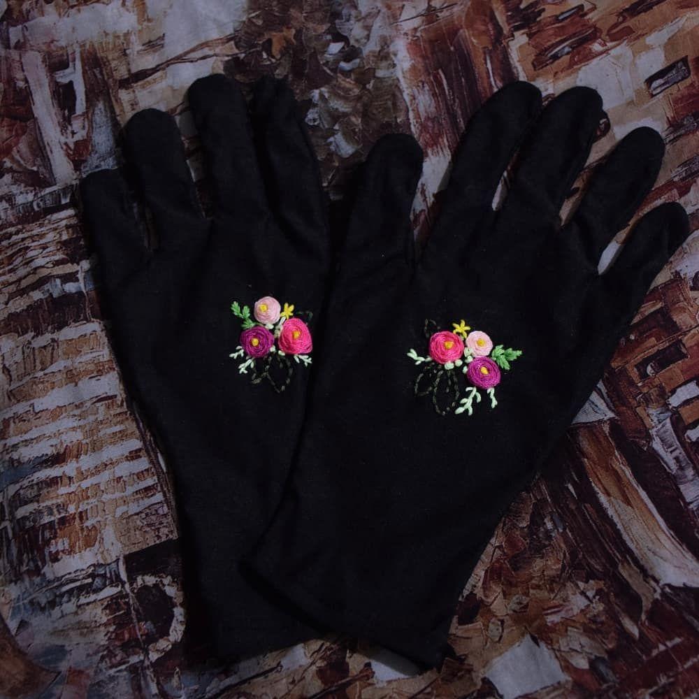 دستکش نخی گلدوزی شده امکان سفارش در طرح های مختلف برای اطلاع از قیمت ها به دایرکت و یا کانال تلگرام گلیدوز مراجعه کنید گلدوزی فانتزی گلدو Fashion Gloves