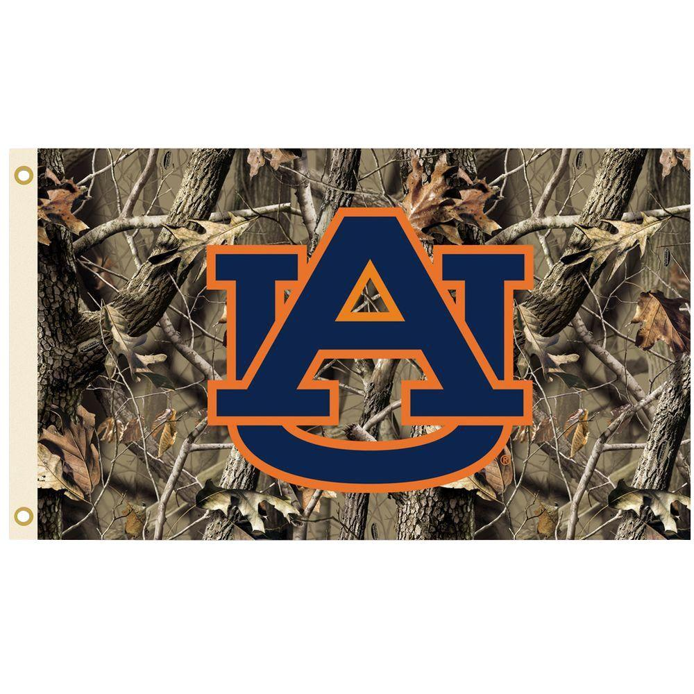 Bsi Products Ncaa 3 Ft X 5 Ft Realtree Camo Background Auburn Flag 95445 The Home Depot Auburn Tigers Realtree Camo Auburn Tigers Football