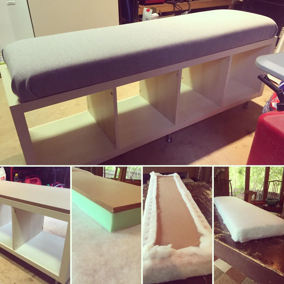 Kallax bookshelf is now a bench!