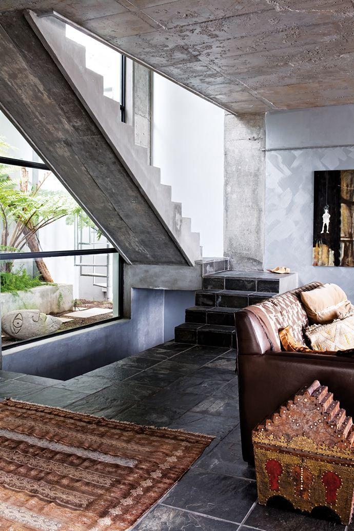 Living room dream home d coration int rieure escalier - Escalier contemporain beton ...