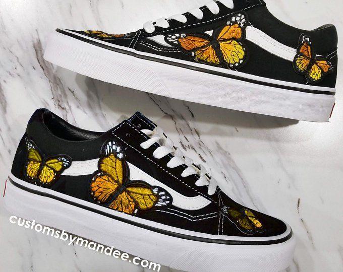 zapatillas vans mujer de mariposas