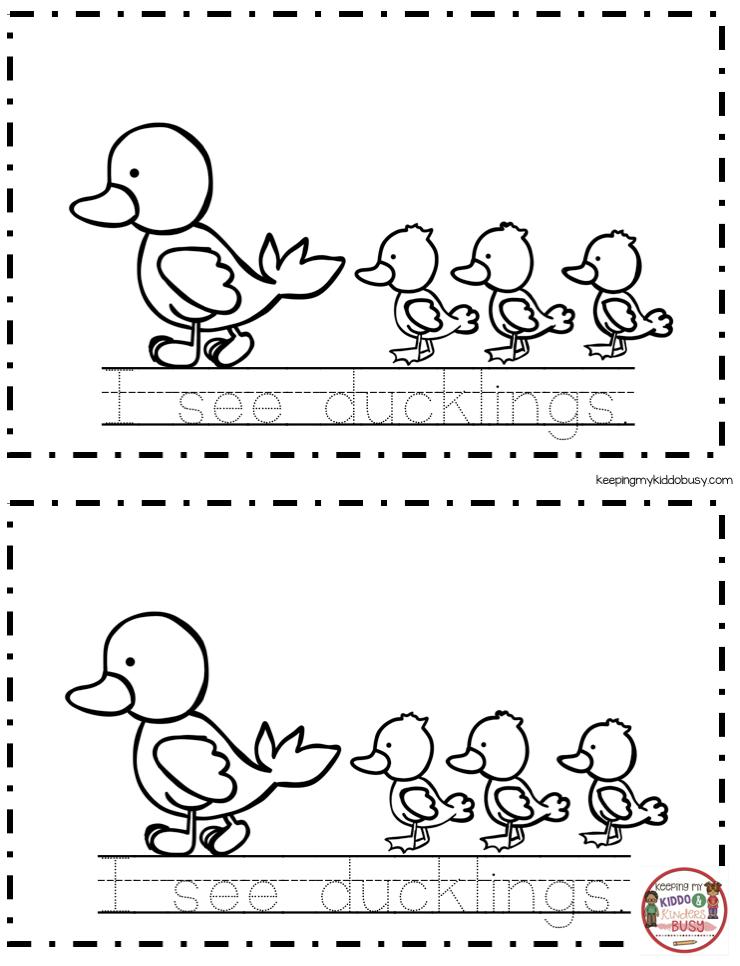 EASTER Mini Book Spring Worksheets for kindergarten