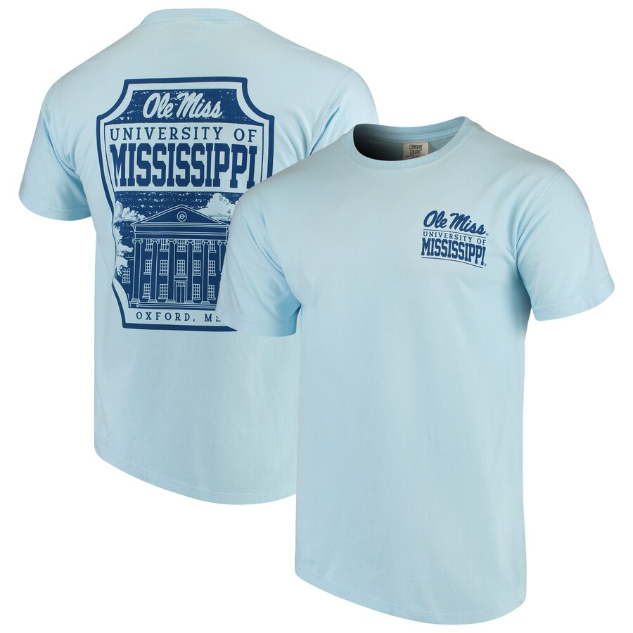 Ole Miss Rebels Comfort Colors Campus Icon T Shirt Light Blue Ole Miss Comfort Colors Ole Miss Rebels