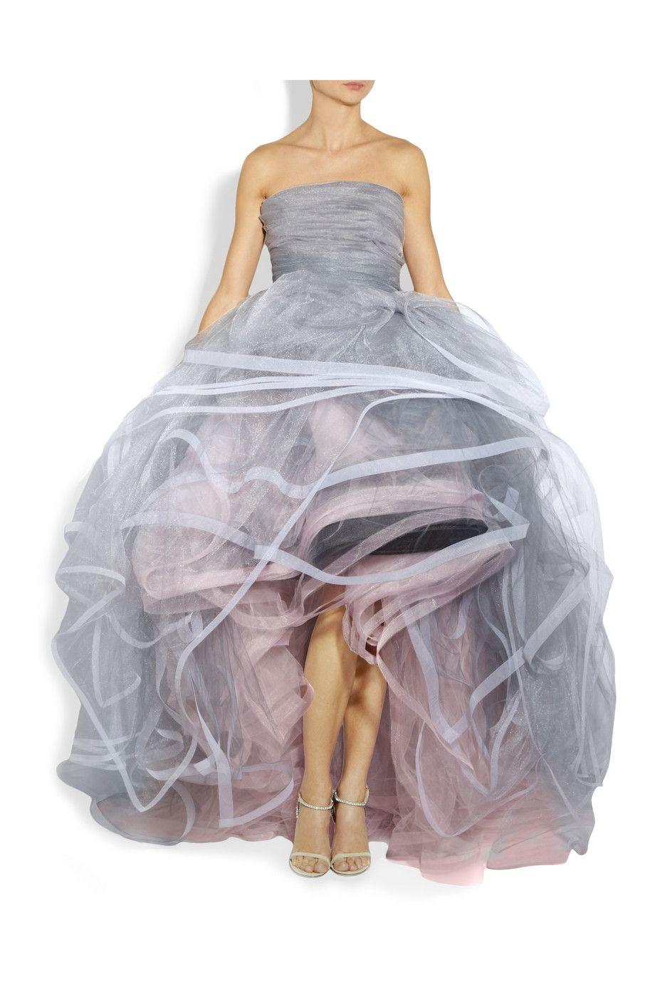 Light up wedding dress  Oscar de la Renta  Layered tulle gown  NETAPORTERCOMLightgray