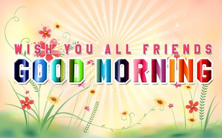 Good Morning Friends HD Wallpaper
