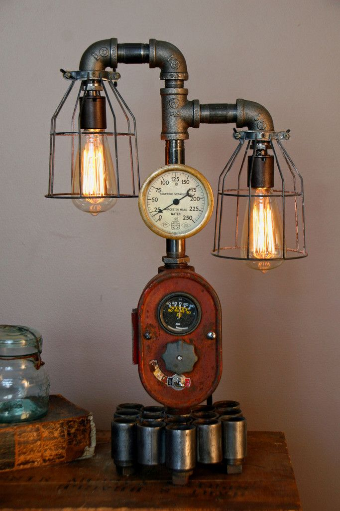 Modern Farmhouse Tractor Industrial Table Lamp Id Lights Industrial Table Lamp Recycled Lamp Vintage Industrial Decor