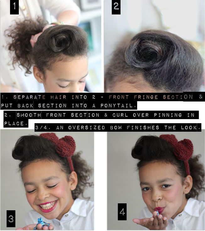 The 1950 S Rock N Roll Pony Kids Hairstyles Rock And Roll Hairstyles Curly Hair Styles