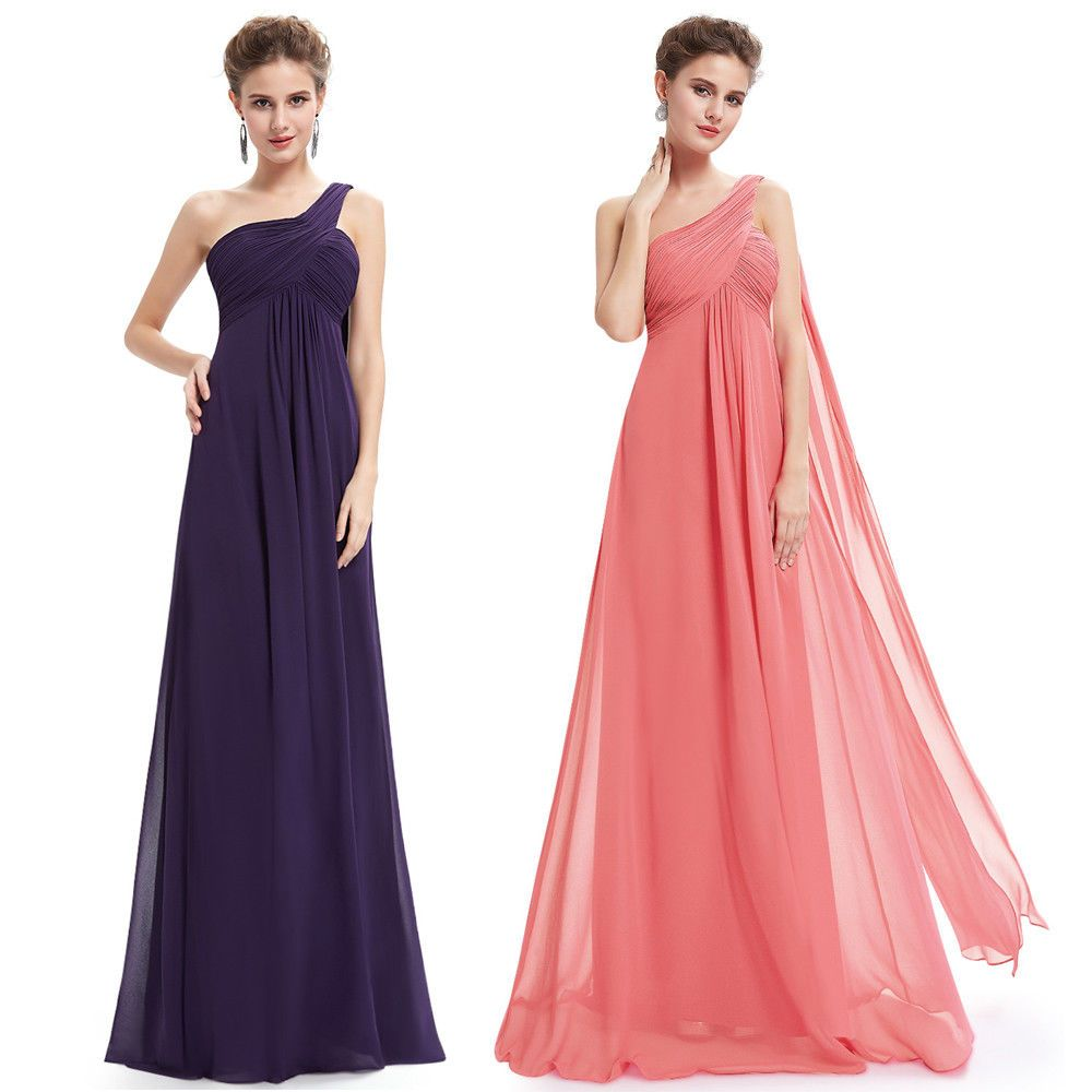 Purple dresses to wear to a wedding  Cool Awesome US Long Chiffon Wedding Bridesmaid Dresses Homecoming