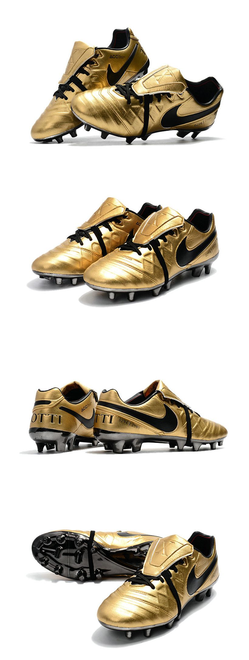 new style c689a 41155 Nike Tiempo Totti X Roma Limited Edition Gold Soccer Cleats ...