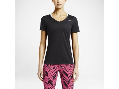 Nike Legend 2.0 V-Neck Women's Training T-Shirt (black & white)