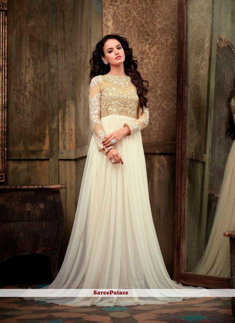 42a570df9d Modest Off White Color Floor Length Designer Anarkali Suit   Suits ...
