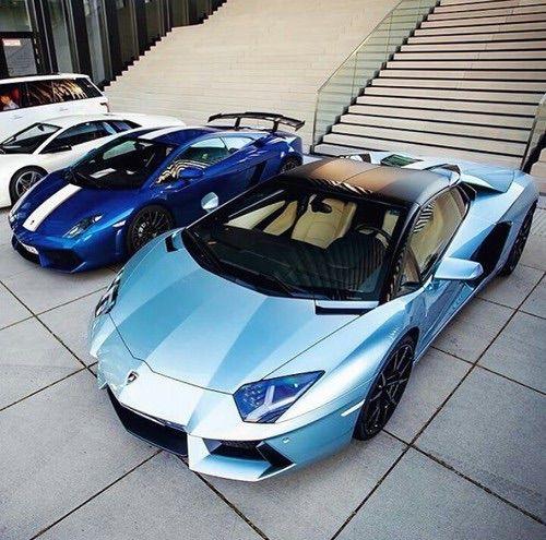 Charmant รูปภาพจาก We Heart It #blue #cars #Lamborghini #gallardo #aventador