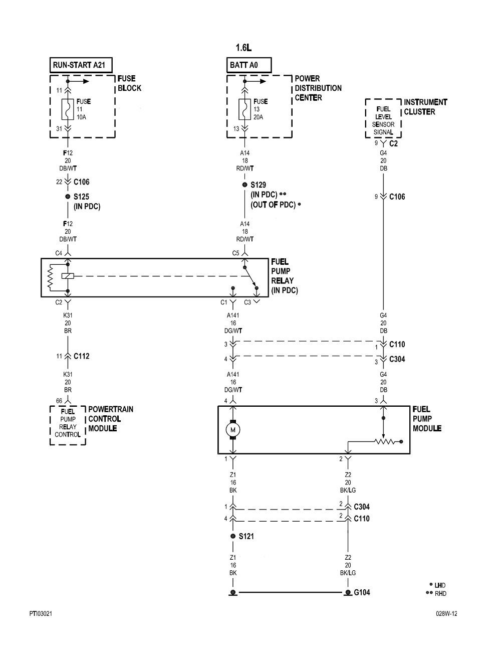 Pt Cruiser Fuel Pump Wiring Diagram Inspirational Di 2020