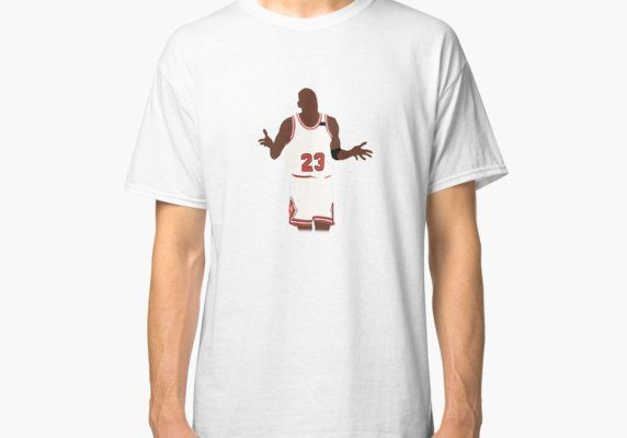 b70acc986f7e49 Michael Jordan Shrug Design Classic T-Shirt