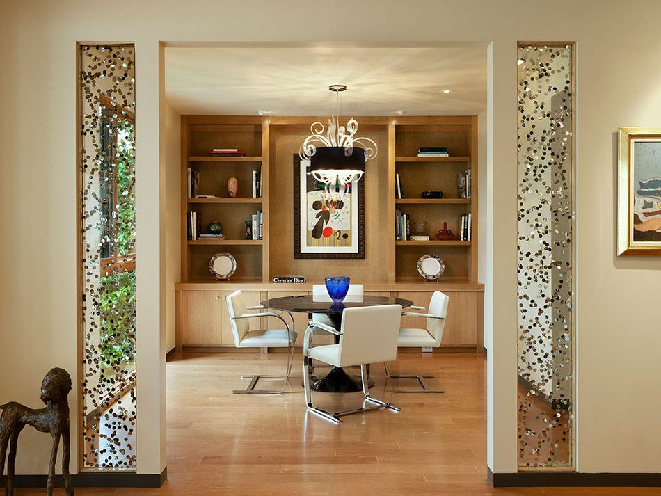 Sequins Poured Glass Provides Striking Wall Features In This