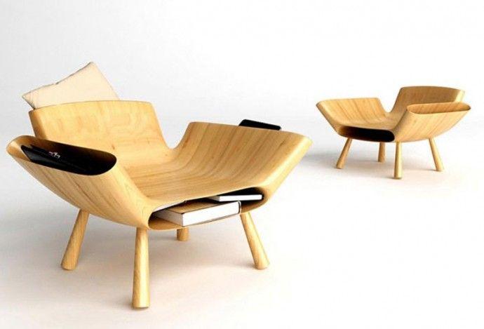 Wood Chair Par Teerayut Pengchai Et Chavalit Banpot A L Occasion Du Tiff Award 2012 Organise En Collaboration Avec Designboom Deux Designe Chaises Bois Fauteuille Et Chaise