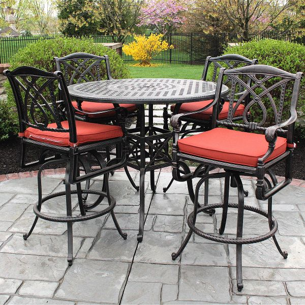 patio table chairs tall images | ... the Best in High Quality Outdoor Bar  Height Cast Aluminum Furniture - Grand Terrace Bar Height In 2018 Lake Belton Condo Pinterest