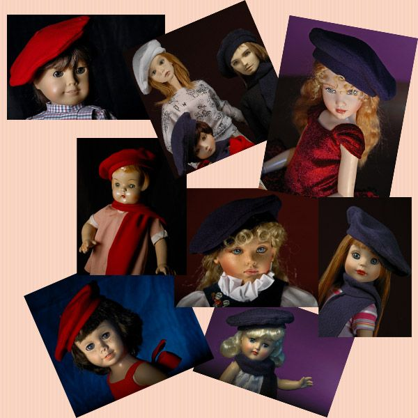 Free fleece beret tutorial and pattern in several sizes for dolls ...