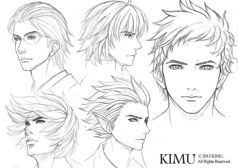 Male Face Practice By Kimuliao Deviantart Com On Deviantart Male