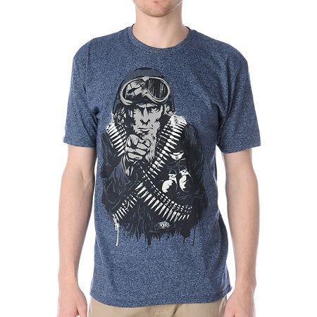 Mass Exodus The Recruit Navy Blue T Shirt Zumiez Navy Blue T Shirt Mens Tops Mens Tshirts