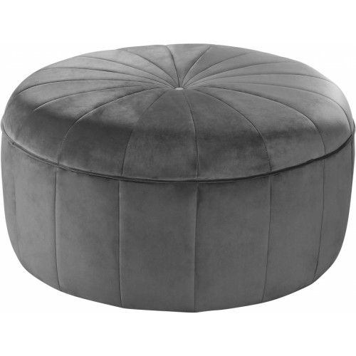 Amazing Grey Velvet Large Round Center Tuft Coffee Table Ottoman In Bralicious Painted Fabric Chair Ideas Braliciousco