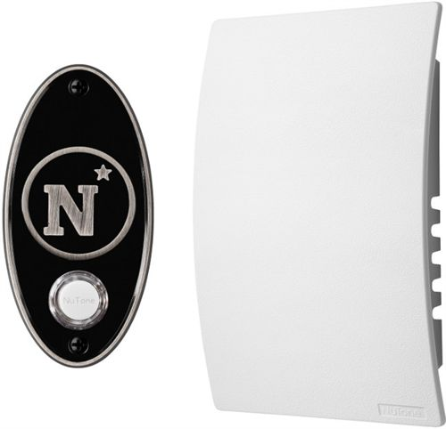 U.S. Naval Academy Doorbell Kit in Satin Nickel. It can play any MP3 file you upload to it. $99  #Navy #College Pride #NuTone #giftidea #holidaygift #sportsfan