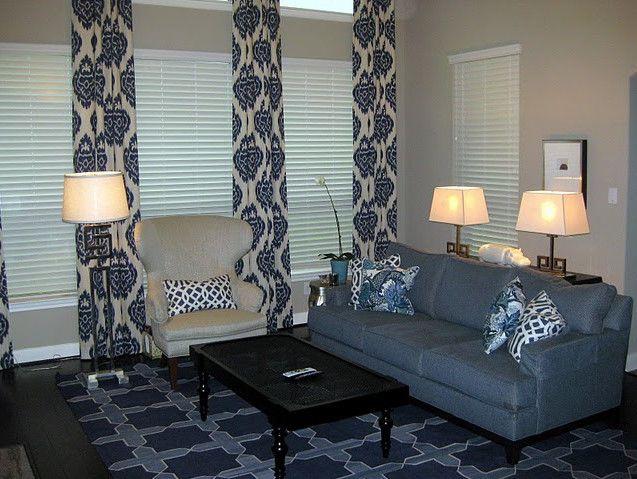 Suzie Odi Et Amo Kalah Blue Fabric Drapes Blue Sofa