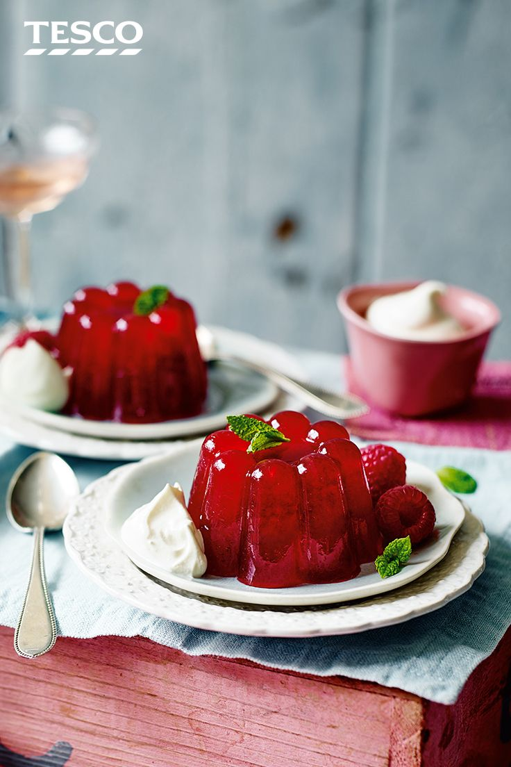 Dessert Ideas Dinner Party Part - 44: An Elegant Dinner Party Dessert Recipe, These Pretty Jellies Are Made With  A Sweet Raspberry