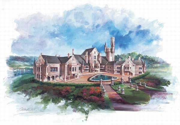 Balmoral House Plans Home Plans By Archival Designs Castle Plans Castle House Plans Balmoral House