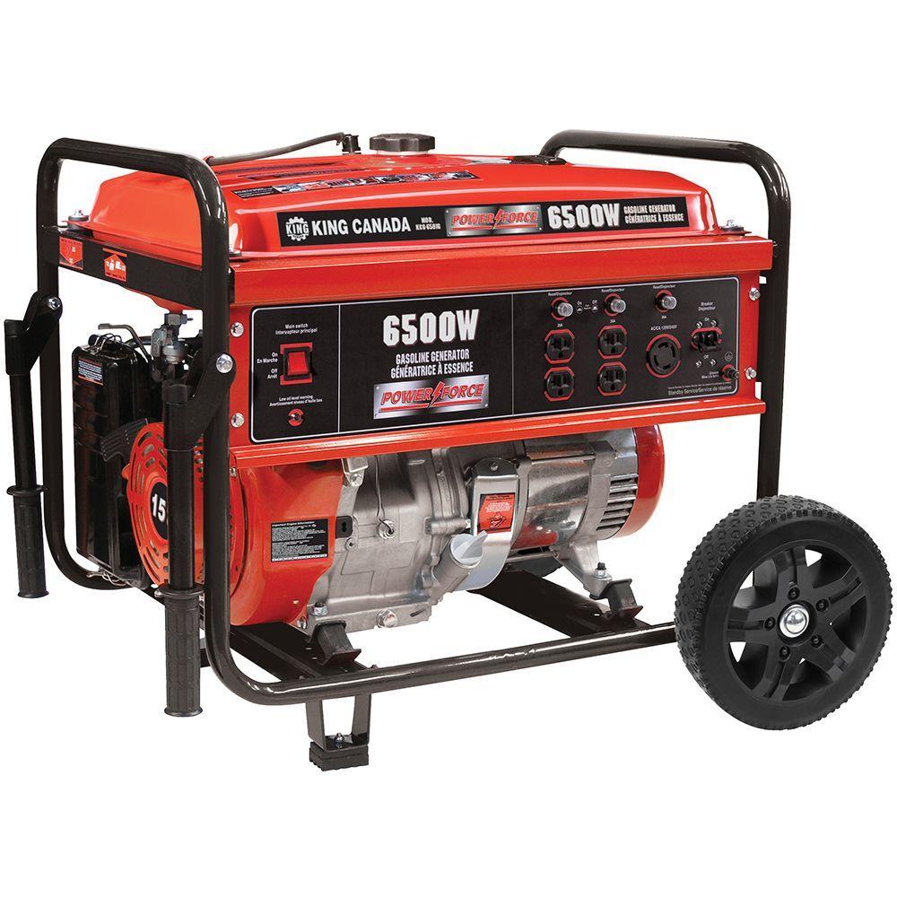 Gasoline Generator With Wheel Kit 6500 Watt Generation