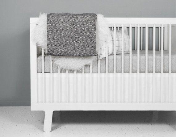 Modern Crib Bedding Set Nest Grey Grey And White Nursery Modern Nursery Grey Crib Sheet G
