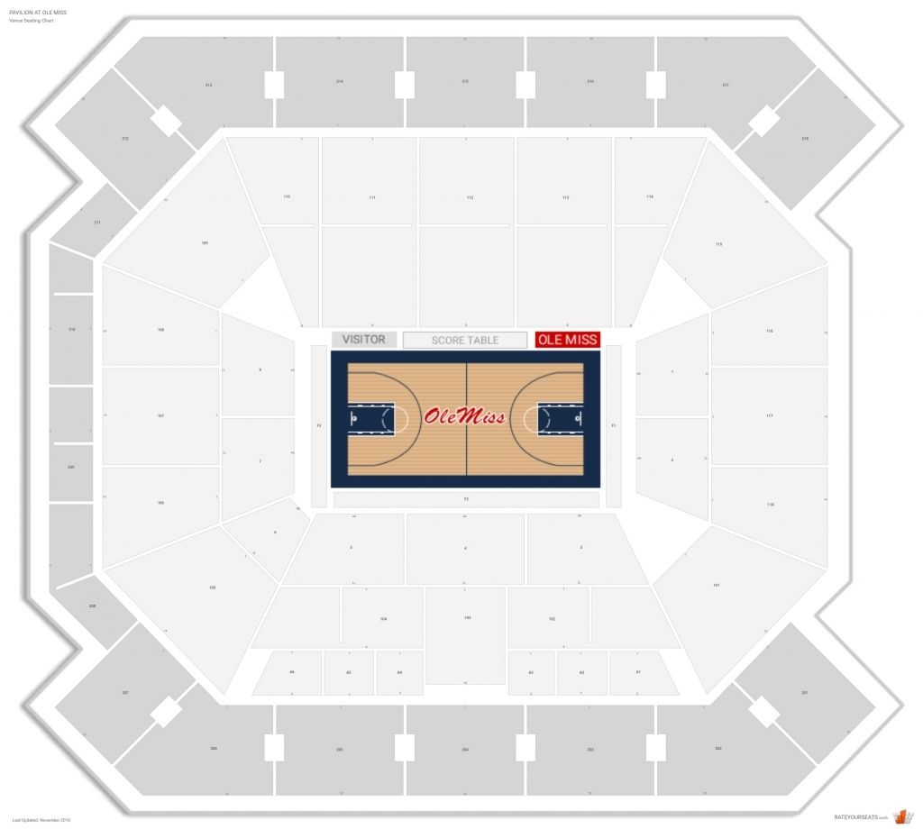 Ole Miss Pavilion Seating Chart