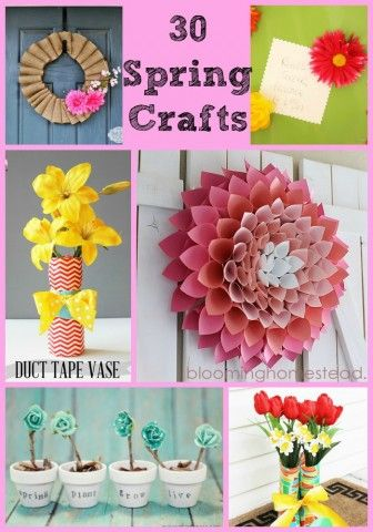 So much inspiration in this collection of 30 Spring craft ideas!  #springcrafts #roundup