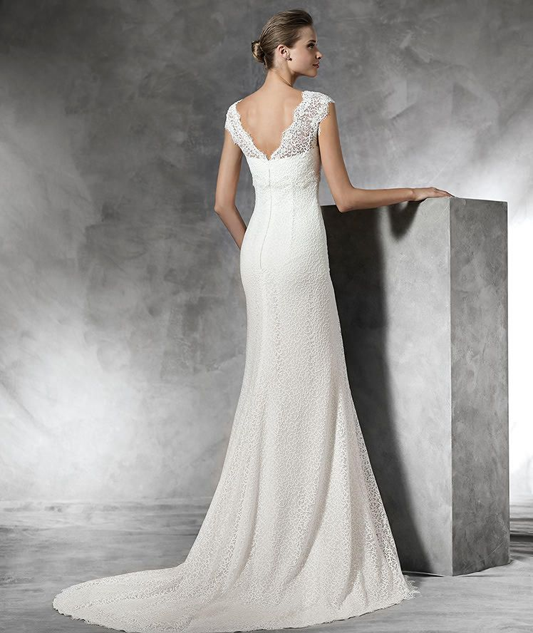 778c38e881 TAIMA - Vestido de novia original de estilo imperio