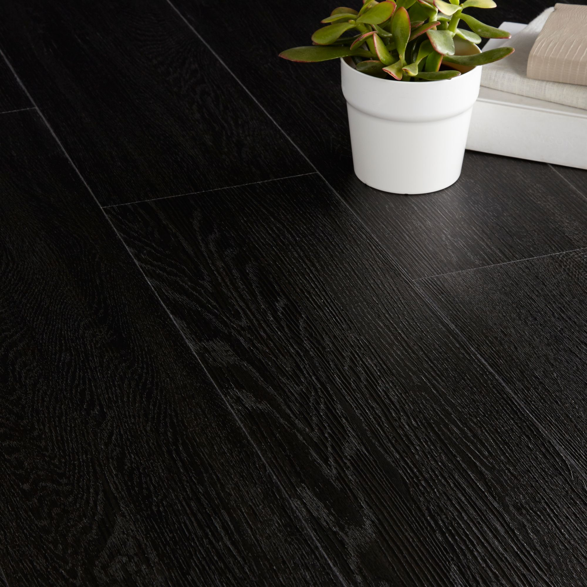 Colours Traditional Ebony Effect Luxury Vinyl Click Plank