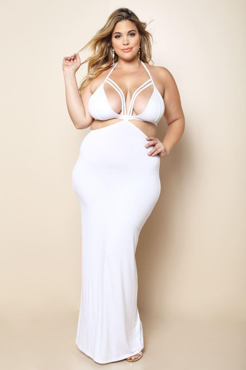 1ec4b4c002c Plus Size Cut-Out Evening Dress Dresses+ GS-LOVE