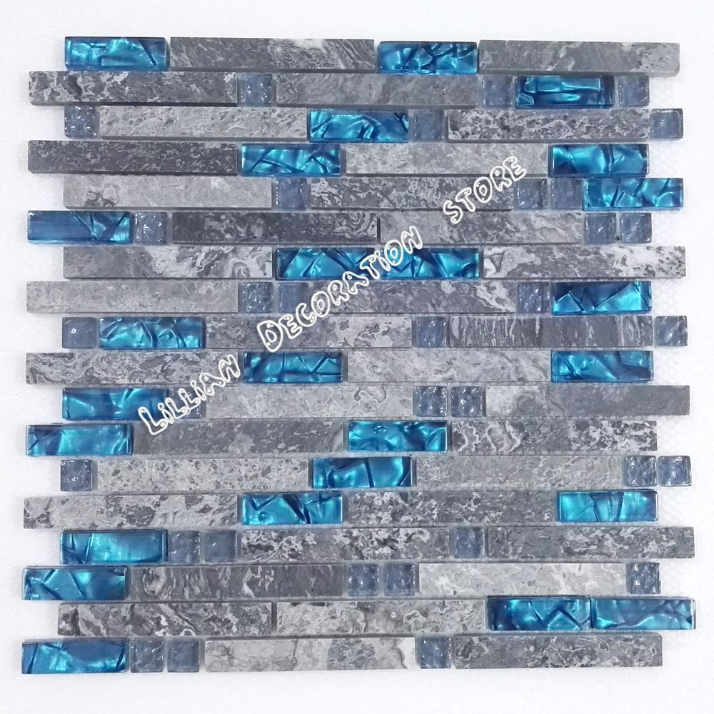 Cheap blue glass tile, Buy Quality mosaic tile directly from China ...